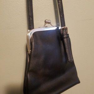 Old school shoulder bag black